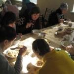 Молитва и трапеза в Алчевской лечебнице
